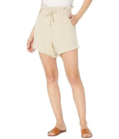 Blank NYC Textured Linen Elastic Waist Shorts