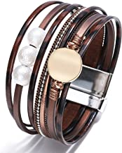 N/A Mannen en vrouwen accessoires Legering Armband Barok Parel Hand Geweven Lederen Armband Vrouwelijke Sieraden Bruiloft ...