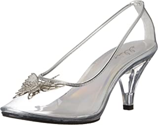 Ellie Shoes Womens 305-CINDER 305-cinder Transparent Size: