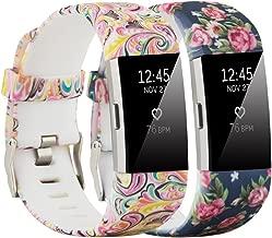 Molitec Fitbit Laden 2bantlar için ayarlanabilir için yedek Sport bantlarında Fitbit Laden 2SmartWatch Fitness Bileklik