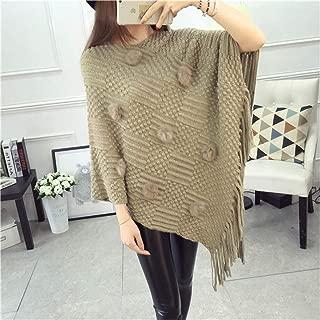 Batwing Sleeve Cloak Sweater 2019 Women Hem Knitting Loose Tassel Pullovers Poncho Capes Coat Jumper S66