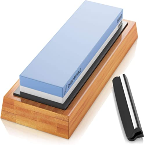 Sharp Pebble Premium Whetstone Knife Sharpening Stone 2 Side Grit 1000/6000 Waterstone- Whetstone Knife Sharpener- No...