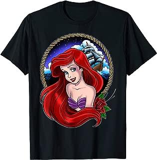 Little Mermaid Ariel Sailor Tattoo Graphic T-Shirt