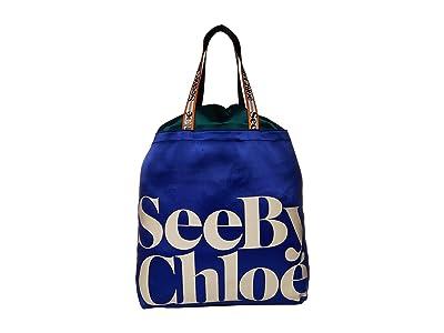 See by Chloe Live Tote (Absolute Blue) Handbags