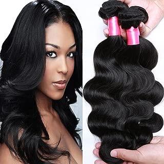 Cranberry Hair Brazilian Virgin Hair Body Wave Cheap Remy Human Hair 4 Bundles Weaves 100% Unprocessed Virgin Hair Bundles Extensions Natural Black Color(18