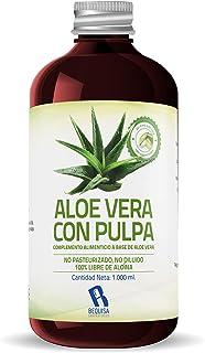 Jugo Aloe Vera Puro | Producto Concentrado a base de Jugo de Aloe Vera Con Pulpa - Suplemento Para Regular el Transito Intestinal -Litro
