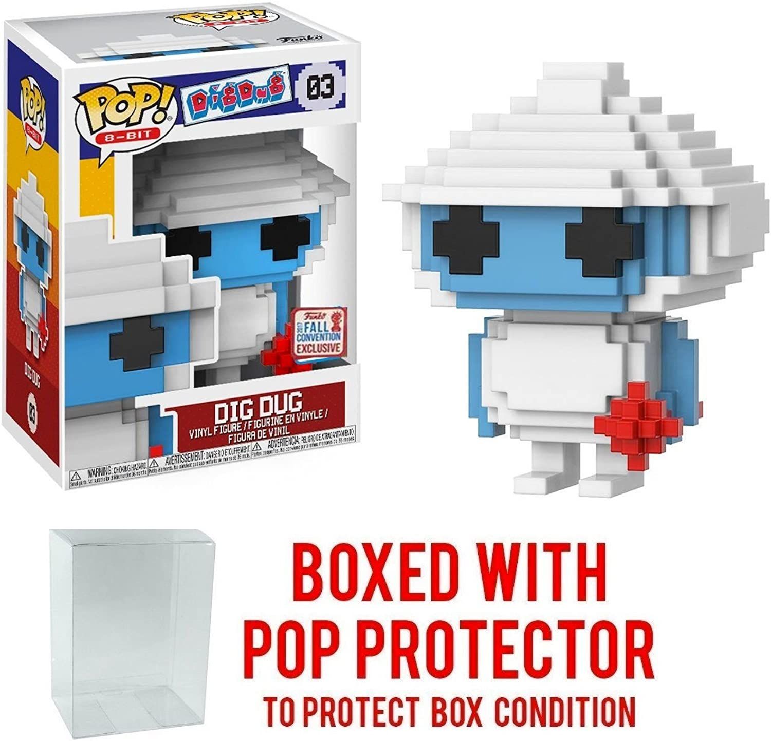 Funko Pop  Dig Dug  8Bit NYCC Exclusive Collectible Vinyl Figure Bundled with Pop Predector
