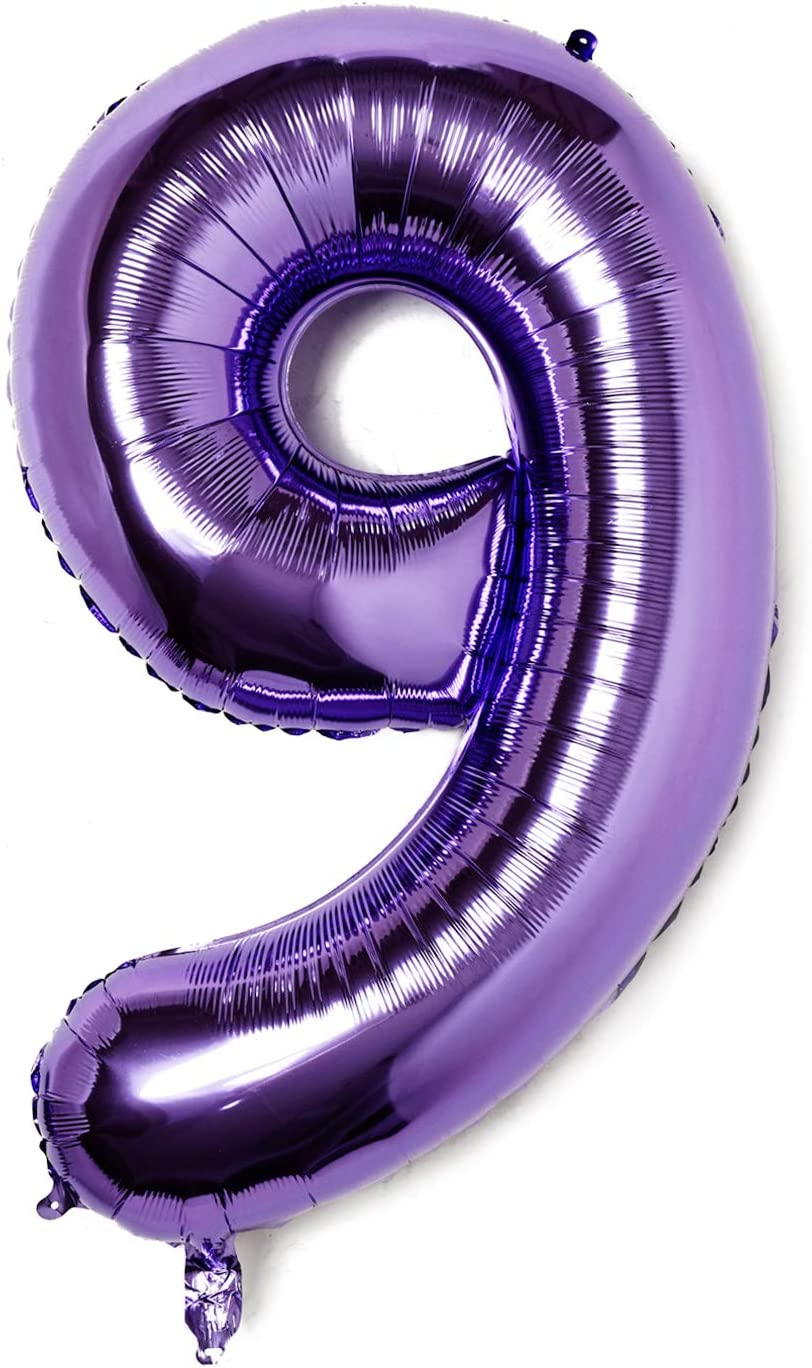 Pupple Large 40 Inch Numbers Birthday Party Wedding Decorations Helium Foil Mylar Big Number Balloon Digital Number 3 Balloon