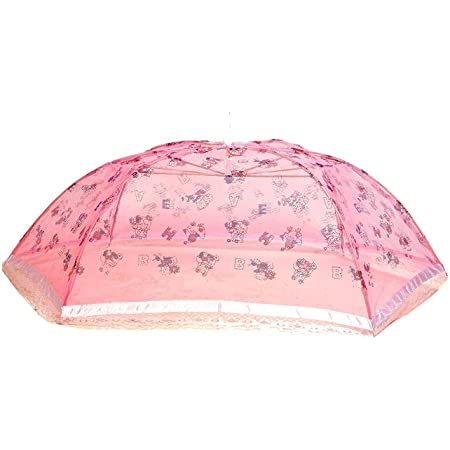 Yashika Umbrella Style Full Cover up for 0 to 3 Year Baby Pink Mosquito Net for Baby_New Born_Infants