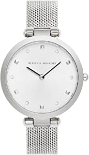 Rebecca Minkoff Women's Quartz Watch with Stainless Steel Strap, Silver, 13 (Model: 2200299)