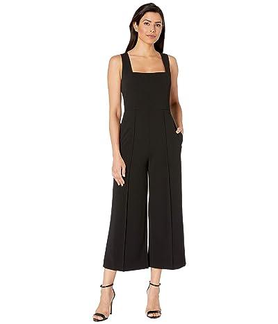 Donna Morgan Squared Neck Cropped Wide Leg Jumpsuit (Black) Women