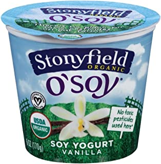 Stonyfield Farm Organic O Soy Fruit on the Bottom Vanilla Soy Yogurt, 6 Ounce -- 12 per case.