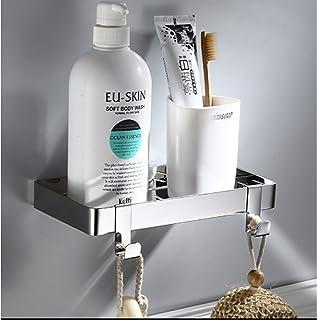 CGLOVEWYL étagère de Salle de Bain Noire étagère cosmétique Support de Douche en Acier Inoxydable Organisateur de Rangemen...