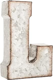 Galvanized Metal 3D Letter L