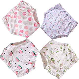 BBPIG Potty Training Pants for Baby and Toddler Girls, Baby Underwear 4 Pack (100(3T), G4