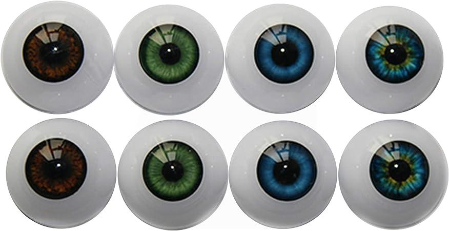 PIXEL FREE Human Doll Reborn Taxidermy Craft Eyeball 2pc Set 83-2 Pale Green Glass Eyes