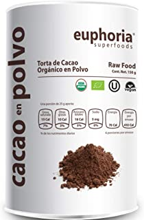 Euphoria Superfoods, Cacao Orgánico en Polvo, 150 g