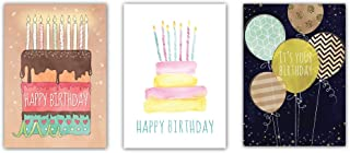 (3 Pack) Contemporary Birthday Cards