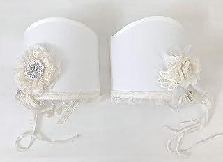 Set di due lampade in stile shabby chic