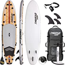 THURSO SURF Waterwalker All-Around Inflatable Stand Up Paddle Board SUP 10'/10'6/11' Two Layer Deluxe Package Includes Carbon Shaft Paddle/2+1 Quick Lock Fins/Leash/Pump/Roller Backpack