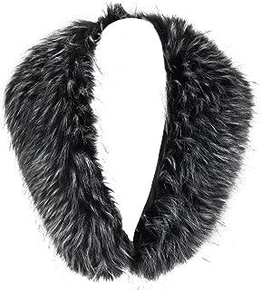 Women'Faux Fur Neck Scarf For Winter Coat Collar