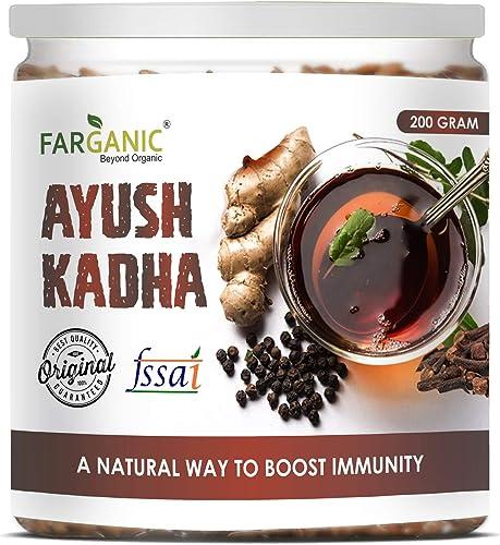 FARGANIC Ayush Kadha Mix Kwath Powder for Immunity Booster 200 Gm