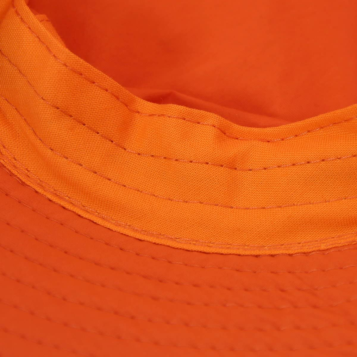 Home Prefer Unisex Mens Womens Lightweight Breathable Daily Summer Boonie Hat Sun Protection Bucket Hat Outdoor Fishing Hat, Orange at  Women's Clothing store