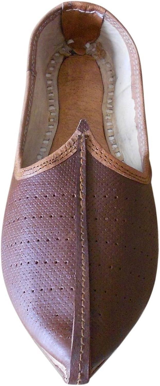 Kalra skapade skapade skapade Jutti Indian Genuine läder bspringaaa Handgjorda Män skor Flat  billig
