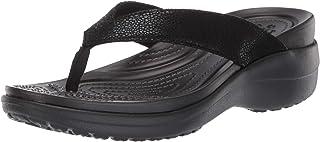 comprar comparacion Crocs Capri Metallictxt Wedge Flip W, Zuecos para Mujer