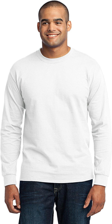 Port Company Men's Tall Cheap Long Sleeve Cotton Max 50% OFF Poly 50 Shirt T