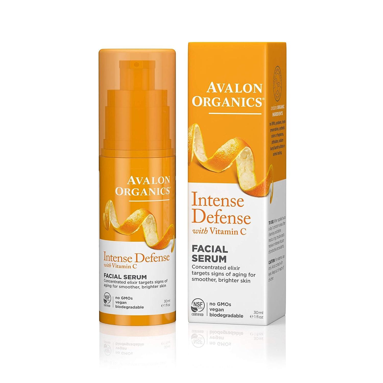 Avalon Organics Facial Serum Intense Vitamin Free shipping C with half Defense 1