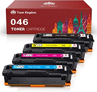 Toner Kingdom Compatible Toner Cartridge Replacement for Canon 046 046H for Color ImageCLASS MF735Cdw LBP654Cdw MF731Cdw MF733Cdw Laser (Black 1 Cyan 1 Magenta 1 Yellow)