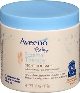 Aveeno Baby Eczema Therapy Night-Time Balm 11 Ounce Jar (325ml) (3 Pack)