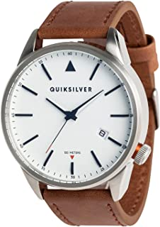 Quiksilver - The Timebox Leather - Analogue Watch for Men - Analoge Uhr - Männer