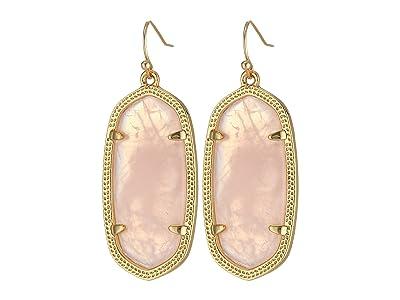 Kendra Scott Elle Earring (Gold/Rose Quartz) Earring