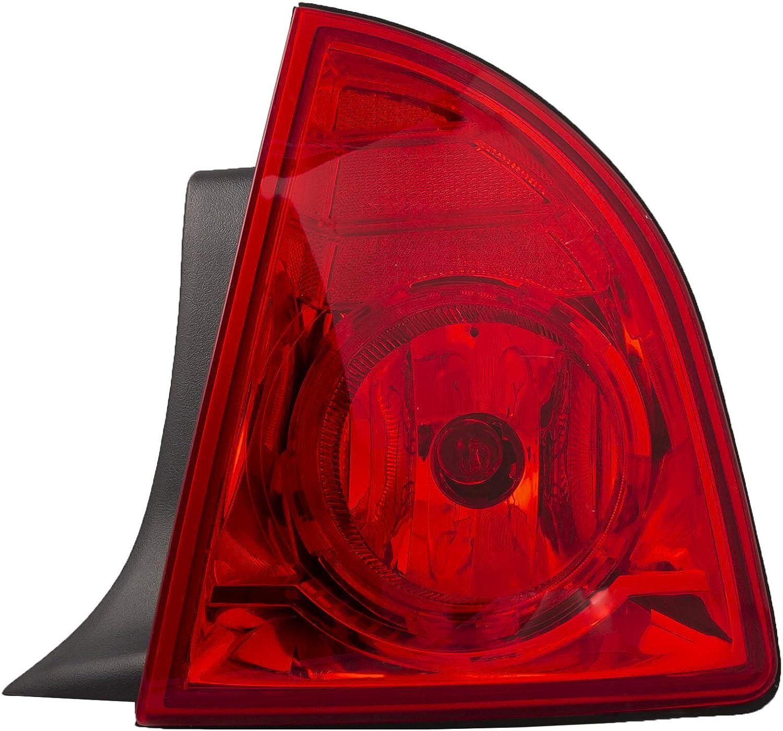 HEADLIGHTSDEPOT Tail 大幅にプライスダウン Light Compatible 2008 現品 Malibu Chevrolet with