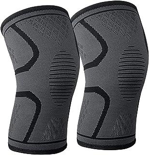 Katuae Knee Compression Sleeves, 1 Pair,Knee Sleeves for Both Men & Women, Knee Brace Support for Running & Arthritis, Squ...