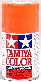 RC Cars Accessories Tamiya PS-20 Polycarbonate Spray Fluorescent Red Paint - 3oz, TAM86020