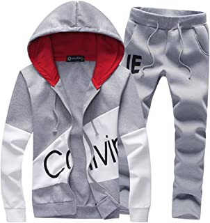40090c65 Fashionmy Men's Hoodies Suits Tracksuits Active Printing Jogging Suits  Sports Suits Casual Slim Fit Students