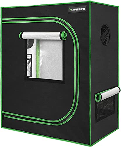 """lowest VIVOSUN 30""""x18""""x36"""" Mylar Hydroponic Grow Tent with Observation Window and Floor Tray for high quality Indoor 2021 Plant Growing online sale"""