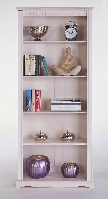 Bücherregal, Standregal Kiefermassiv H.180cm wei NEU