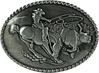 Lovoski Strong Rider Oval Male Cowboy Belt Buckles For All Seasons Accessories