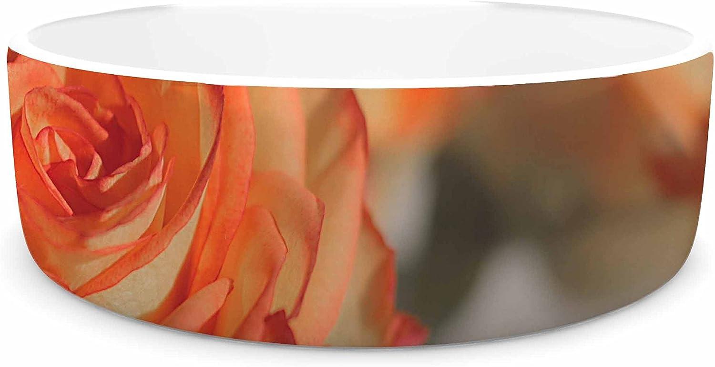 KESS InHouse Angie Turner pinks  orange Floral Pet Bowl, 7