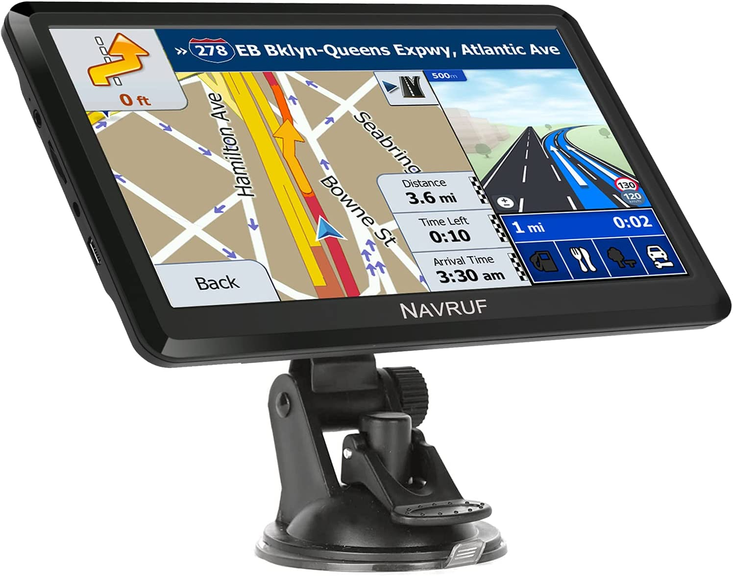 NAVRUF GPS Navigation for car, 7 inch Truck GPS with 2021 US Maps (Free Lifetime Updates) GPS for Car Truck HGV Lorry Motorhome, Voice Guidance, Speed Camera Alerts & POI Lane Assist