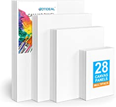 "GOTIDEAL Canvas Panels Multi Pack, 5x7"", 8x10"", 9x12"", 11x14"" Set of 28,Professional Primed White Blank- 100% Cotton Artis..."
