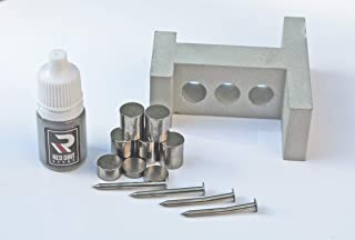 Red Dirt Derby Pinewood Derby Weight Drilling Tool with 3 oz Tungsten Weights + Graphite + 2 Machined and Polished Straight Axles + 2 Bent/Rail-Riding Axles - Ultimate Speed Kit!