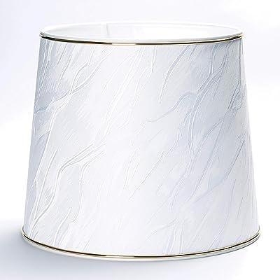 Abat-jour de rechange en tissu avec motif Goldring Gold pour culot E27 Or, Weiß, 28x24cm