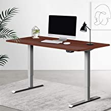 Artiss Standing Desk Sit Stand Table Height Adjustable Motorised Electric Grey Frame 120cm Walnut