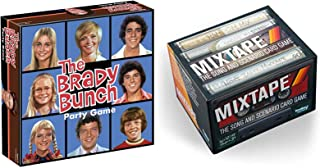 TV Music Retro Brady Bunch Throwback Show Groovy Family Board Game with Alice & Family Party Rewind Bundled with + Song Card Mixtape Music Pack 2 Items