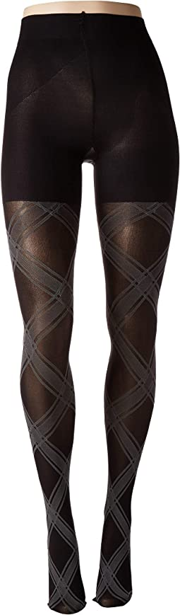 Bias Plaid Shaping Tights